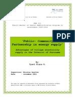 Vyent Diana G., Public-Community Partnership in energy supply, 11-2011