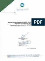Manual de Procedimiento para el Uso de Internet y Recursos de Tecnología