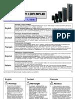 Manula Variador de frecuencia Siemens 440