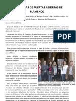 Artículo. III JORNADAS DE PUERTAS ABIERTAS DE FLAMENCO