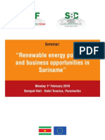 Renewable energy potential and business opportunities in Suriname, 2-2010