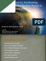 Devon Gardner, Strategies for Accelerating the Solar Water Heating Market in Caricom States, 9-2012