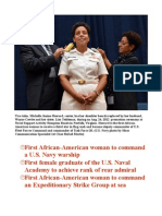 Honoring African American Female Naval Trail Blazer Rear Adm. Michelle Howard
