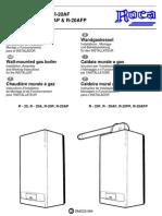 Manual Caldera Roca R-20 (Instalador)