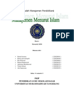 Manajemen Menurut Islam New
