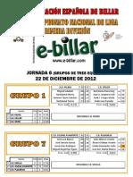 Resultados J6 Grupos de 3 LN3B Primera División