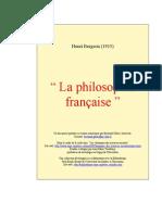 Henry Bergson -La philosophie française