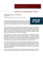 A Call for German Leadership in Combating Nuclear Terrorism, by Rolf Mowatt-Larssen and Tom Bielefeld (2010)