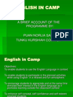 English in camp power point by Norlia Said.