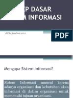 1 Konsep Dasar Sistem Informasi