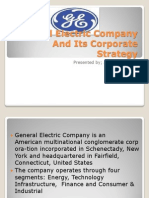 GE CORPORATE STRATEGY