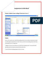 Basic Ms Word 2007 notes