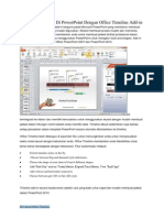 Membuat Timeline Di PowerPoint Dengan Office Timeline Add