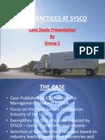 Case Study SYSCO