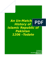 Un-Matched History of PAKISTAN