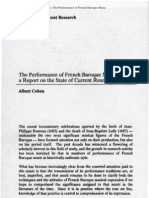 Cohen, The Performance of French Baroque Music