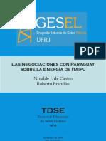 las negociaciones de brasil y paraguay sobre la energía de itaipú