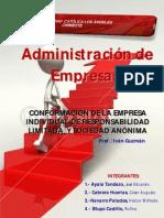 CONFORMACIÓN DE LA EMPRESA INDIVIDUAL DE RESPONSABILIDAD LIMITADA  Y SOCIEDAD ANÓNIMA