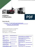 Man trucks guidelines for power take offs