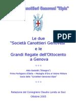 La genesi delle due SOCIETA' CANOTTIERI GENOVESI