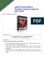 VSO ConvertXtoDVD v5.0.0.13 BETA Multilenguaje (Español), Convierte Vídeos de Cualquier Formato a DVD _ IntercambiosVirtuales
