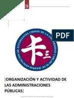 Organización y Actividad de las Administraciones Públicas