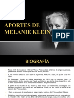Melanie Klein Aportesss