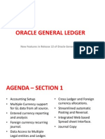 New Features in R12 Oracle General Ledger