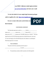 Sample Partnership Agreement for California