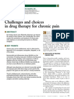 CCJM Challenges and Choices in Drug Therapy for Chronic Pain