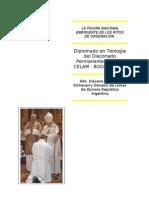 La figura diaconal emergente de los ritos de ordenación