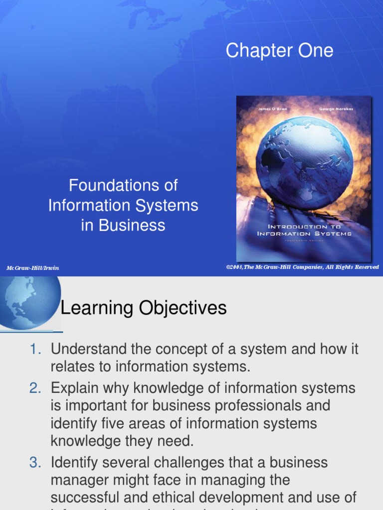 information systems in business Role of information systems on the business network formation process: an  empirical analysis of the automotive sector author(s): rafael lapiedra (lecturer  in.
