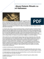 Shane Davis – Abuzul Satanic Ritualic cu ocazia sărbătorii Halloween
