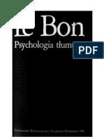 Psychologia tłumu Le Bon