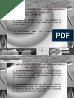 Análisis macroscopico y microscópico