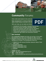 Community Forums Flyer