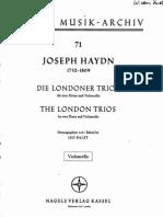 Haydn Londoner Trios Vc