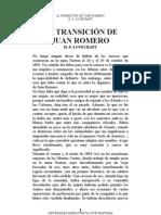 H.P.Lovecraft - La Transición De Juán Romero.doc