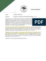 Summary of December Finance Committee