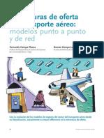 Estructuras de oferta en transporte aéreo