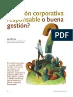 Gestión corporativa responsable o buena gestión
