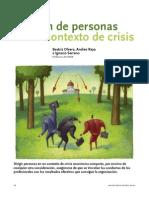 Gestión de personas en un contexto de crisis