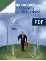 Gobierno corporativo - qué debemos aprender de la crisis