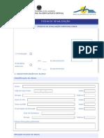 Ficha de Sinalização -Pedido de Avaliação Especializada 2012/2013
