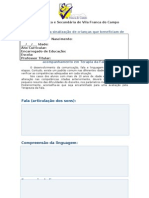 Ficha de Sinalização de Terapia da Fala (10 anos)
