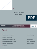 Uk MOD Weapons 2010, Dr Gina Lindsley, DE&S, DSTL, DES, Joint Operations 'the norm'
