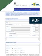Relatório técnico-pedagógico
