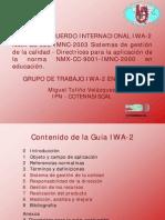 IWA-2 EN EDUCACION
