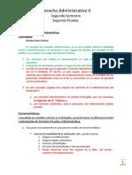 Resumen - Derecho Administrativo, correspondiente al 2do, Semestre 2012