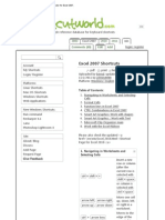 200+ Useful Keyboard Shortcuts for Excel 2007